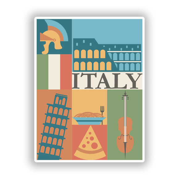 2 x Italy Vinyl Stickers Travel Luggage #10110