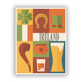2 x Ireland Vinyl Stickers Travel Luggage #10116
