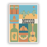 2 x Mexico Vinyl Stickers Travel Luggage #10117