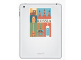 2 x Russia Vinyl Stickers Travel Luggage #10118