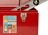 2 x Ukraine Vinyl Stickers Travel Luggage #10121