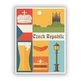 2 x Czech Republic Vinyl Stickers Travel Luggage #10124