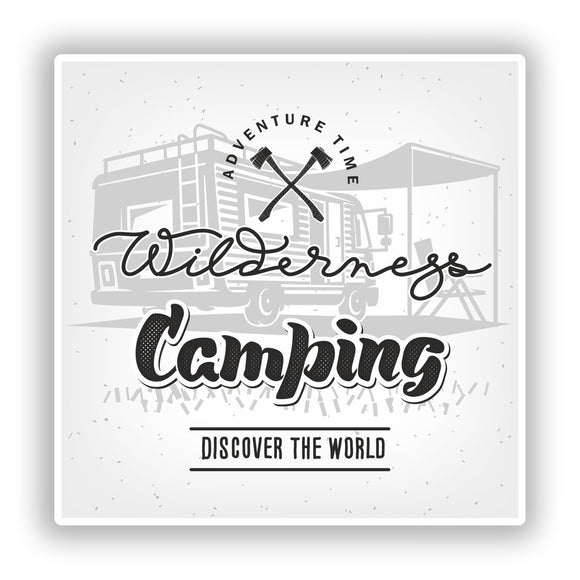 2 x Wilderness Camping Vinyl Stickers Travel Luggage #10127