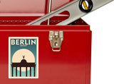 2 x Berlin Germany Vinyl Stickers Travel Luggage #10130