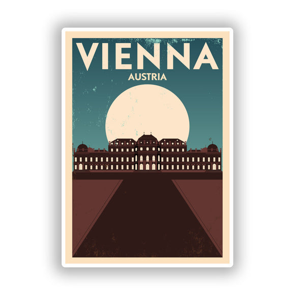 2 x Vienna Austria Vinyl Stickers Travel Luggage #10137