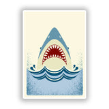 2 x Shark Vinyl Stickers Travel Luggage #10139