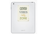 2 x Good Vibes only Zone Vinyl Stickers Travel Luggage #10147
