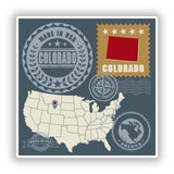 2 x Colorado USA Vinyl Stickers Travel Luggage #10149