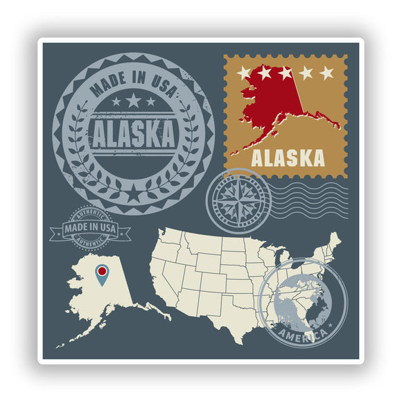 2 x Alaska Vinyl Stickers Travel Luggage #10152