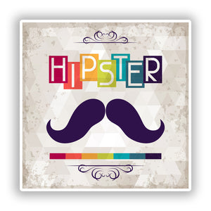 2 x Hipster Vinyl Stickers Travel Luggage #10156