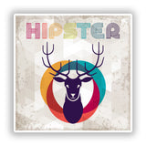 2 x Hipster Deer Vinyl Stickers Travel Luggage #10157