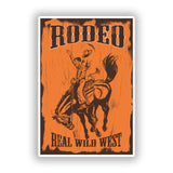 2 x Rodeo Wild West Vinyl Stickers Travel Luggage #10159