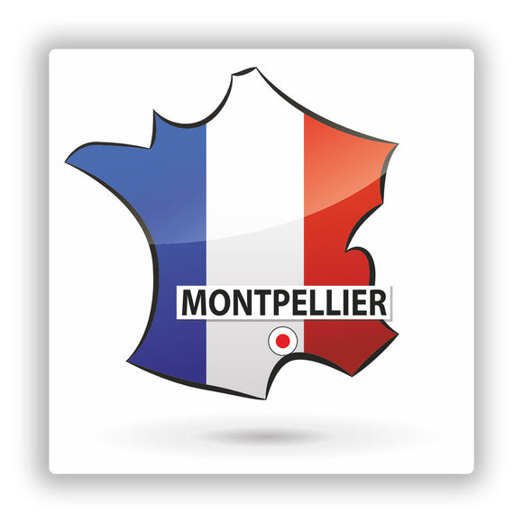 2 x Montpellier France Vinyl Stickers Travel Luggage #10168