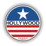 2 x Hollywood Vinyl Stickers Travel Luggage #10169