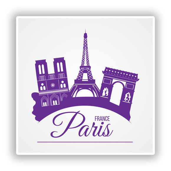 2 x Paris France Vinyl Stickers Travel Luggage #10175