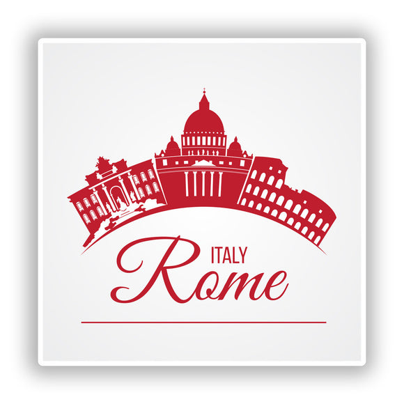 2 x Italy Rome Vinyl Stickers Travel Luggage #10177