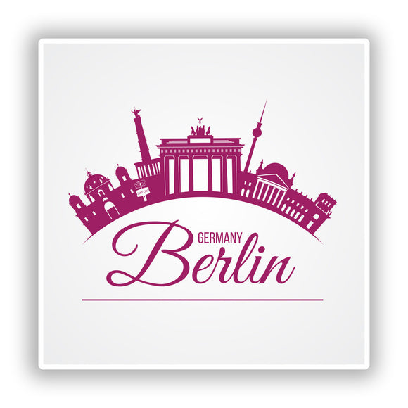 2 x Berlin Germany Vinyl Stickers Travel Luggage #10178