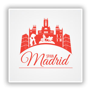 2 x Madrid Spain Vinyl Stickers Travel Luggage #10179