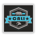 2 x Cali Vinyl Stickers Travel Luggage #10181