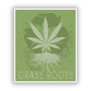 2 x Grass Roots Vinyl Stickers Travel Luggage #10183