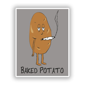 2 x Baked Potato Vinyl Stickers Travel Luggage #10186