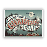 2 x Merry Christmas Vinyl Stickers Decoration Window Sticker #10190