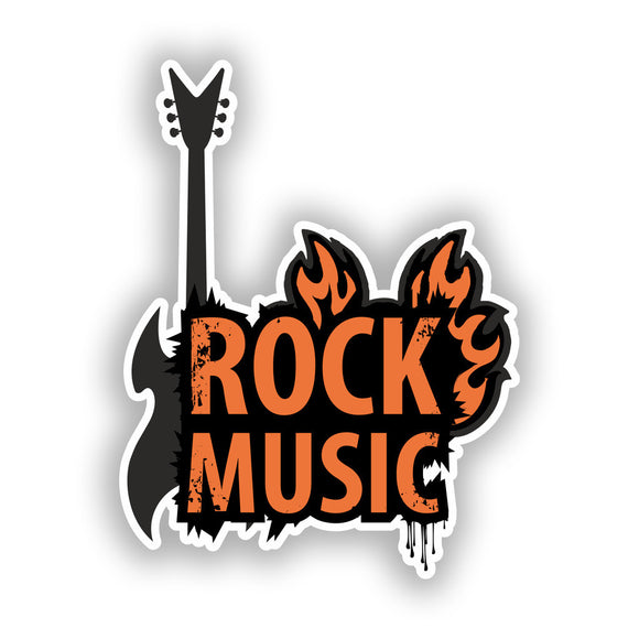 2 x Rock Music Vinyl Stickers Travel Luggage #10198