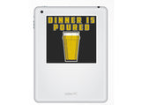 2 x Dinner Is Poured Vinyl Stickers Travel Luggage #10202