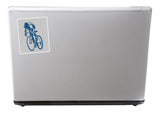 2 x Bike Vinyl Stickers Travel Luggage Mountain BMX #10208