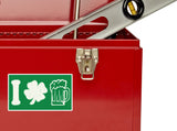 2 x St Patricks Day Vinyl Stickers Travel Luggage #10211