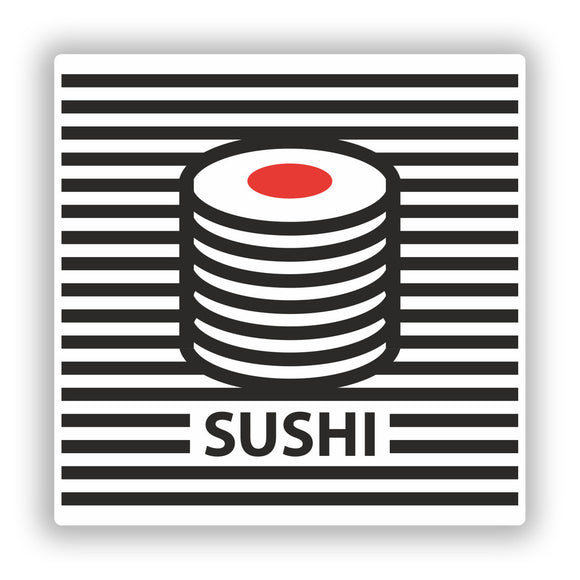 2 x Retro Sushi Vinyl Stickers Travel Luggage #10214