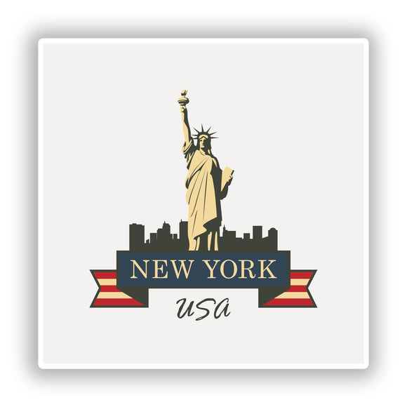 2 x New York Vinyl Stickers Travel Luggage #10216