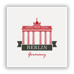2 x Berlin Germany Vinyl Stickers Travel Luggage #10217
