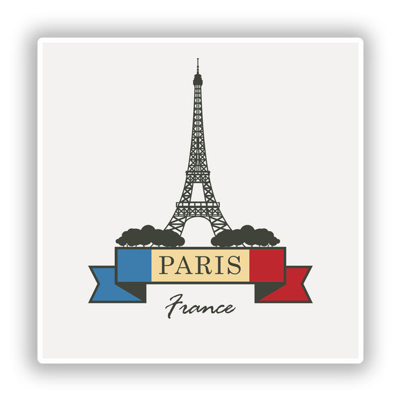 2 x Paris France Vinyl Stickers Travel Luggage #10218