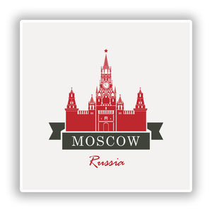 2 x Moscow Russia Vinyl Stickers Travel Luggage #10226