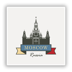 2 x Moscow Russia Vinyl Stickers Travel Luggage #10227