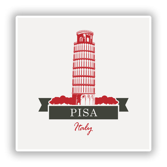 2 x Pisa Italy Vinyl Stickers Travel Luggage #10228