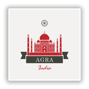 2 x Agra India Vinyl Stickers Travel Luggage #10229