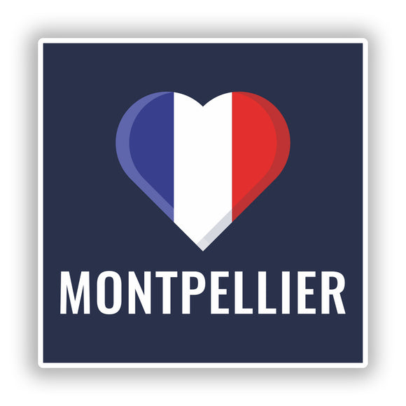 2 x Montpellier France Vinyl Stickers Travel Luggage #10234