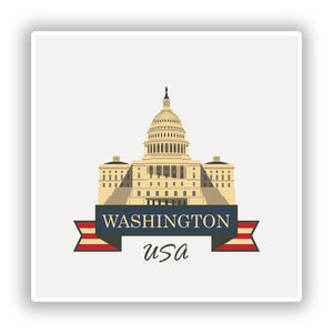 2 x Washington USA Vinyl Stickers Travel Luggage #10236