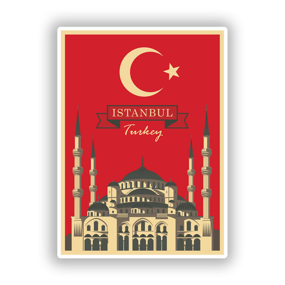 2 x Istanbul Turkey Vinyl Stickers Travel Luggage #10239