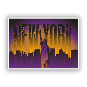 2 x New York Vinyl Stickers Travel Luggage #10240