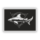 2 x Shark Vinyl Stickers Travel Luggage #10242