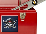 2 x Pirate Skull Vinyl Stickers Travel Luggage #10248