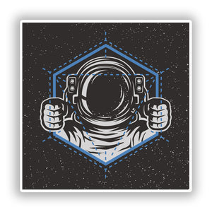 2 x Astronaut Vinyl Stickers Travel Luggage #10251
