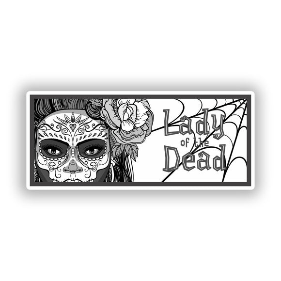 2 x Lady Of The Dead Vinyl Stickers Travel Luggage #10253