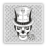 2 x Day of the Dead Skull Vinyl Stickers Travel Luggage #10259