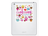 2 x I Love Cupcakes Vinyl Stickers Travel Luggage #10260