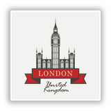 2 x London England UK Vinyl Stickers Travel Luggage #10266