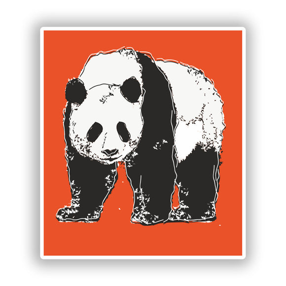 2 x Panda Vinyl Stickers Travel Luggage #10272